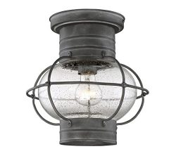 Savoy House 5-224-88 Enfield Outdoor Ceiling Mount in Oxidized Black