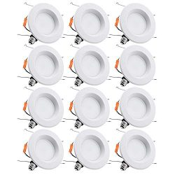 TORCHSTAR 15W 6inch Wet Location CRI90+ Dimmable 90W Equivalent Retrofit LED Recessed Lighting F ...