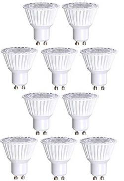10 Pack Bioluz LED GU10 LED Bulbs 50W Halogen Replacement Dimmable 6.5w 3000K 120v UL Listed (Pa ...