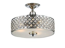 Saint Mossi Chandelier Modern K9 Crystal Raindrop Chandelier Lighting Flush mount LED Ceiling Li ...