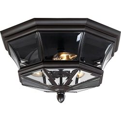Quoizel NY1794Z  Newbury 3-Light Outdoor Lantern, Medici Bronze