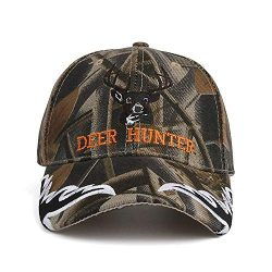 AKIZON Camouflage Baseball Cap Deer Hunter Velcro Strap Adjustable Camo Hat for Men