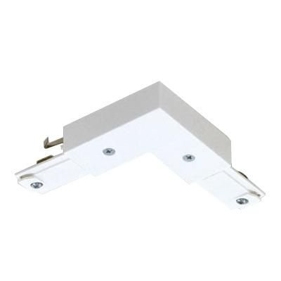 Basic Lytespan® L Connector, For Use With Lytespan® 1-Circuit Track Lighting Systems, Matte White