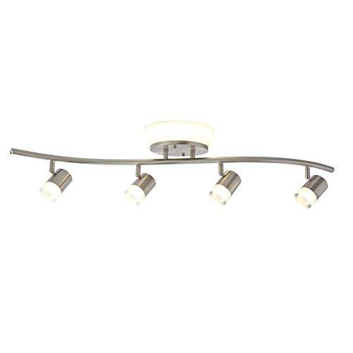 2 Ft Track Lighting Kit: Hampton Bay HBTF1029-35 2.85 Ft. 4-Light Brushed Nickel