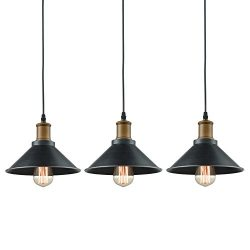 Dazhuan Ceiling Light 3-Lights Pendant Metal Hanging Kitchen Farmhouse Industrial Lighting Fixtu ...