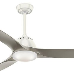 Casablanca Fan 52 Inch Contemporary Ceiling Fan in Fresh White with Cased White Glass LED Light  ...