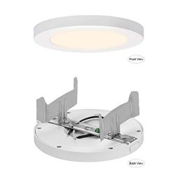 AVANLO Super Slim 0.5 Inch Thickness 5 Inch LED Ceiling Light Fixture, 120V 4000K 360lm 6W(40W E ...