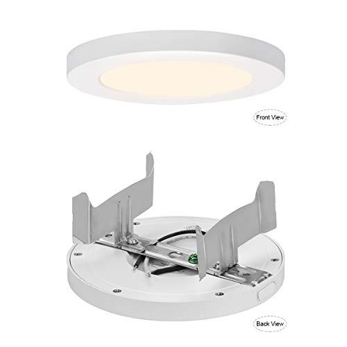 AVANLO Super Slim 0.5 Inch Thickness 5 Inch LED Ceiling Light Fixture, 120V 4000K 360lm 6W(40W E ...