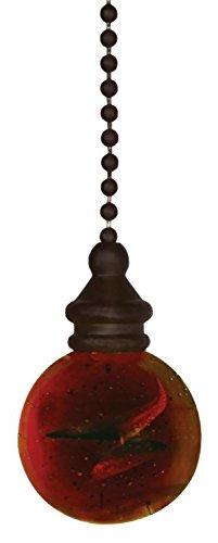 Westinghouse 7712500 12″ Amber & Bronze Ball Pull Chain