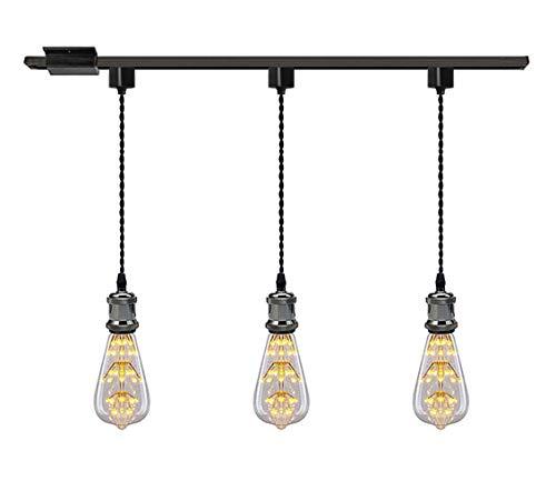 Kiven 1 Light H System Track Mini Pendant Pearl Black