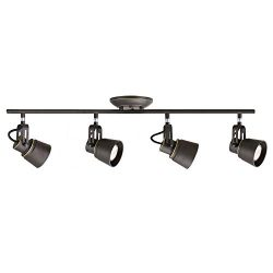 4 Lights Industrial Vintage Semi-Flush Ceiling Light Modern Spotlight Track Lighting Oil Rubbed  ...