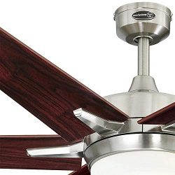 Westinghouse Transitional Cayuga 60 inch Indoor Ceiling Fan, Dimmable Led Light Kit with Opal Fr ...