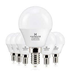 6 watt(60w Equivalent) Hansang LED Bulbs Light E12 Screw Base Candelabra Round Bulb 600 Lumen,Hi ...