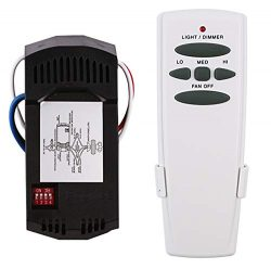 Eogifee Universal Ceiling Fan Remote Control and Receiver Kit Replacement of Hampton Bay Harbor  ...