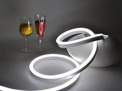 CBConcept ETL Listed 120 Volt LED NEON Flexible Lighting Strip, 40 Feet, Pure White, Waterproof  ...
