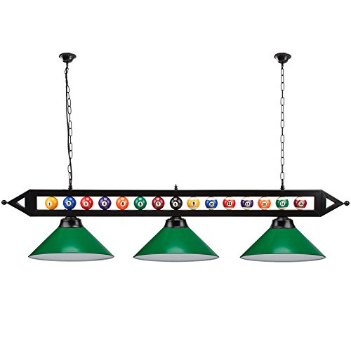 "59"" Metal Hanging Billiard Pool Table Lighting Fixture"