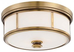 Minka Lavery Harbour Point 4365-249 2 Light 120 watt (6″H x 13″W) Glass Flush Mounti ...