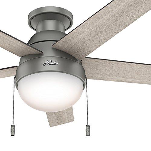 Hunter Fan 46 Inch Low Profile Matte Silver Indoor Ceiling