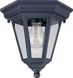 Maxim 1027BK, Westlake Cast, 1-Light Outdoor Ceiling Mount, Black