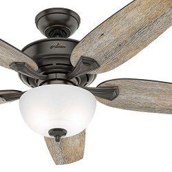 Hunter Fan 54 inch Casual Nobel Bronze Indoor Ceiling Fan with Light Kit (Certified Refurbished)