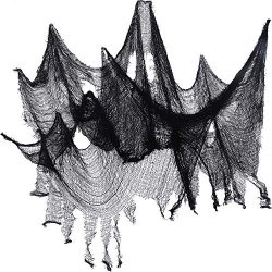 Jovitec 4 Pack Halloween Creepy Cloth, 30 by 72 Inch Freaky Loose Weave Creepy Cloth Fabric Scar ...