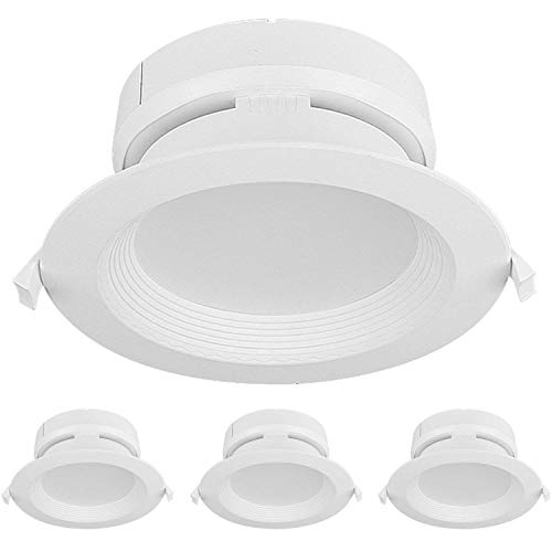 Hykolity 4 Inch 10W Integrated LED Recessed Lighting Kit with Junction box,1000lm 4000K Neutral  ...