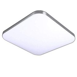 AFSEMOS 6000K LED Ceiling Light Flush Mount 24W 9.84inch Square LED Ceiling Lamp Without Flicker ...