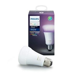 Philips Hue Single Premium Smart Bulb, 16 million colors, for most lamps & overhead lights,  ...