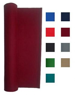 Performance Grade Pool Table Felt – Billiard Cloth – for an 8 Foot Table Burgundy