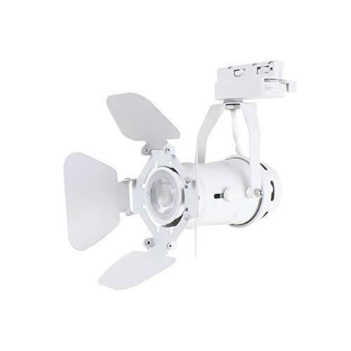 J.LUMI TRK9600W LED Track Light Fixture   Includes LED 5W Bulb   Vintage Mini Spotlight   Adjust ...
