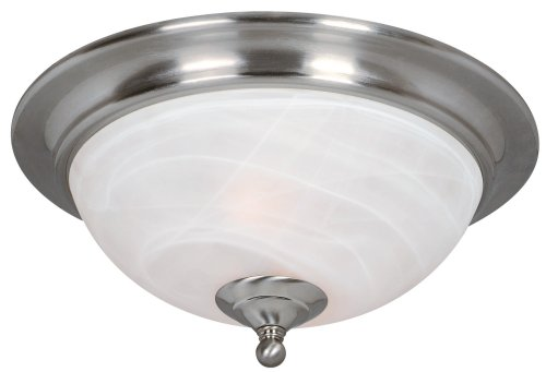Hardware House 543942 Saturn 13-Inch by 6-Inch Ceiling Lighting Fixture Satin Nickel