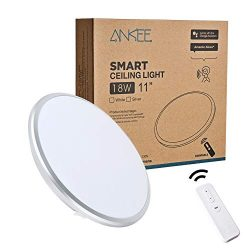 ANKEE Smart LED Ceiling Light 18W – No Hub Required 11″ Ceiling Light | Dimmable 300 ...