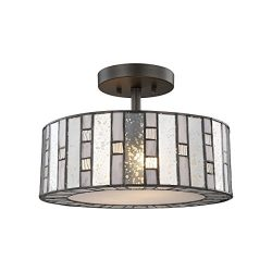 Elk Lighting 70213/2 Close-to-Ceiling-Light-fixtures, Bronze