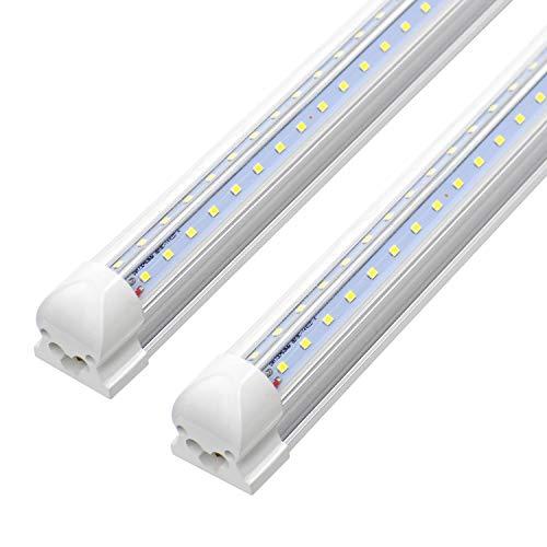 8ft Led Shop Light Fixture 72w 7200 Lumens 6000k Cooler