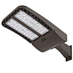 Hykolity 150W LED Parking Lot Light, LED Shoebox Fixture, 18000lm 5700k Photocell Optional Outdo ...
