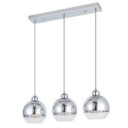 ShengQing 3-Light Mini Globe Pendant Light Modern Kitchen Island Lighting Mirror Ball Pendant Li ...