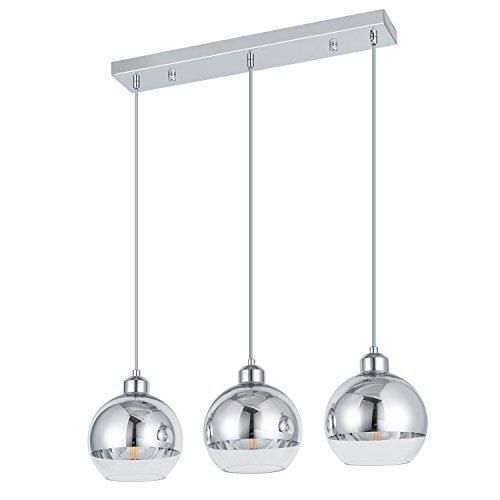 ShengQing 3-Light Mini Globe Pendant Light Modern Kitchen