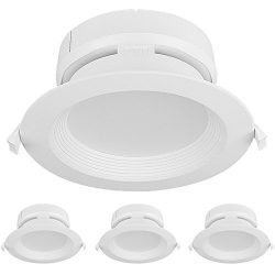 Hykolity 6 Inch 15W Integrated LED Recessed Lighting Kit with Junction Box,1500lm 4000K Neutral  ...