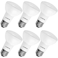 6-Pack BR20 LED Bulb, Luxrite, 45W Equivalent, 6500K Daylight White, Dimmable, 460 Lumens, R20 L ...