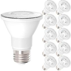 10 Pack – PAR20 LED 7 WATT (50W Equivalent), 5000K Daylight, DIMMABLE- Indoor/Outdoor Ligh ...