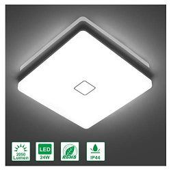 Airand 5000K LED Ceiling Light Flush Mount 24W 12.6 inch Square LED Ceiling Lamp with 240Pcs LED ...
