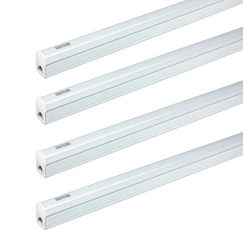 (Pack Of 4) GRG LED T5 Integrated Single Fixture, 3Ft 15W