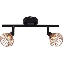Adjustable Track Lighting Ceiling Light 2-Light Spotlight Track Lights,Iron Art Copper Finish,G9 ...