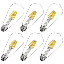 COOWOO LED Edison 60W Equivalent Halogen Replacement Dimmable E26 Base Vintage Filament Pendant  ...