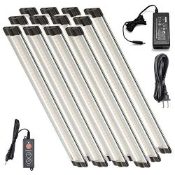 Lightkiwi L4404 Dimmable LED Under Cabinet Lighting 12 Panel Kit, 12 Inches Each, Cool White (60 ...
