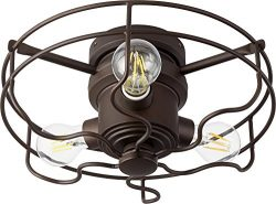 Quorum 1905-86 Windmill 3-Light Kit LED, 18 Total Watts, Oiled Bronze