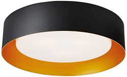 Bromi Design B4106BBG Lynch Black & Gold Flush Mount Ceiling Light