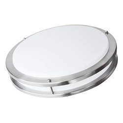 OSTWIN 16-inch Large size LED Ceiling Light Fixture Flush Mount, Dimmable, Round 24 Watt (125W R ...