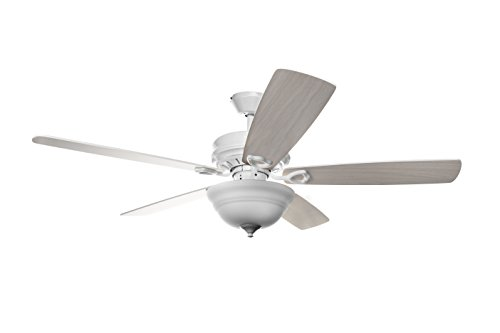 Hyperikon 52 Inch Ceiling Fan with Remote Control, White Ceiling Fan Indoor, Five Reversible Bla ...