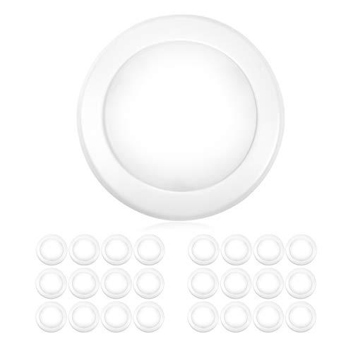 parmida  24 pack  5  6 u201d dimmable led disk light flush mount